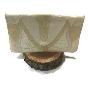 •Furst & Mooney• Vtg 1980 snakeskin leather purse